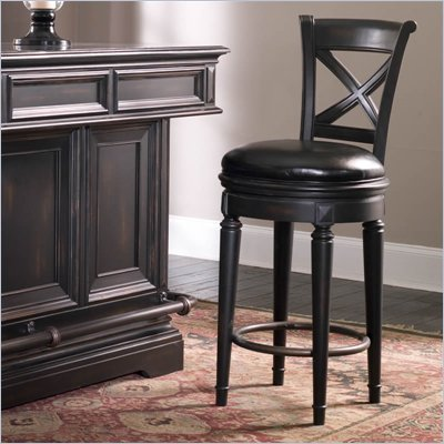 Pulaski Brookfield Bar Stool in Ebony Finish