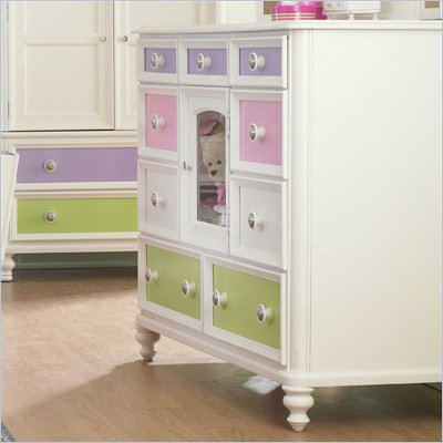 Pulaski Build-A-Bear Pawsitively Yours Kids Bureau Double Dresser in Vanilla