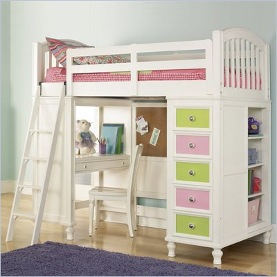 Pulaski Build-A-Bear Pawsitively Yours Kids Loft Bunk Bed in Vanilla Finish