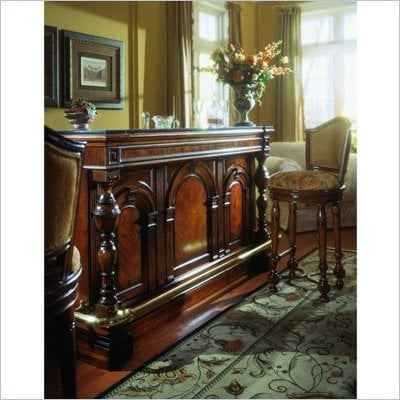 Pulaski Carlton Manor Classic Home Bar in Carlton Dark Wood