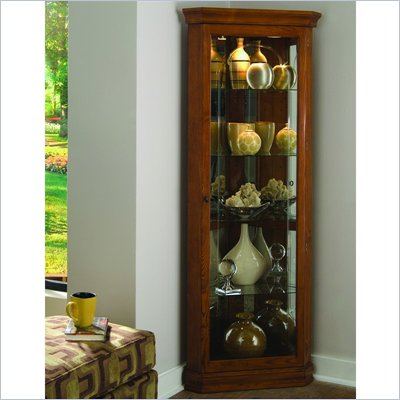 Pulaski Golden Oak II 72&quot; Corner Curio Cabinet