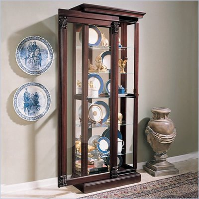 Pulaski Ridgewood Cherry Curio Cabinet