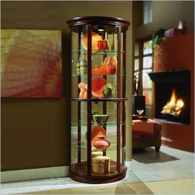 Pulaski Preference 32 Inch Wide Half Round Curio Cabinet