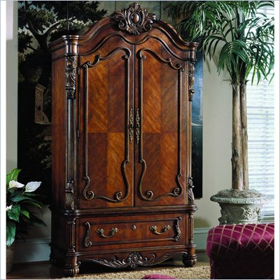 Pulaski Edwardian Antique Wood TV Armoire