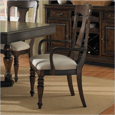 Pulaski Saddle Ridge Arm Chair in Aged Pecan