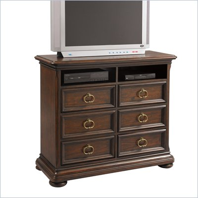 Pulaski Sedona Valley Media Chest in Rustic Saddle Finish