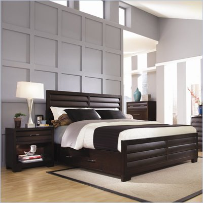 Pulaski Tangerine 330 Panel Storage Bed 2 Piece Bedroom Set in Sable