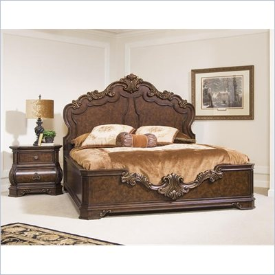 Pulaski Wellington Manor Panel Bed 3 Piece Bedroom Set in Cherry