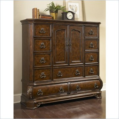 Pulaski Wellington Manor 11 Drawer Master Chest in Cherry