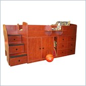 Berg Furniture Sierra Captain's Bed with Storage Drawers