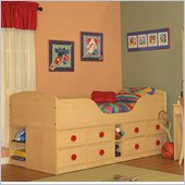 Berg Furniture Sierra High Jr Captain's Bed with Storage Drawers