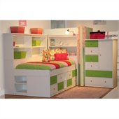 Berg Furniture Sierra Low Jr Captain's Bed with Storage Drawers