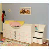 Berg Furniture Sierra High Jr. Captain's Bed with Storage Stairs