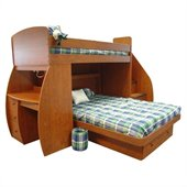 Berg Furniture Sierra Space Saver Twin over Full Bunk Bed with Desk and Stairs