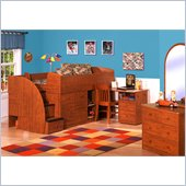Berg Furniture Sierra Twin Captains Bed with Pull-out Desk and Stairs