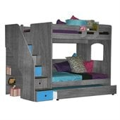 Berg Furniture Utica Full over Full Bunk Bed with Staircase