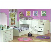 Berg Furniture Sierra L-Shaped Full over Twin Captains Bunk Bed 