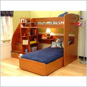 Berg Furniture Utica L-Shaped Twin Over Twin Wood Loft Bunk Bed