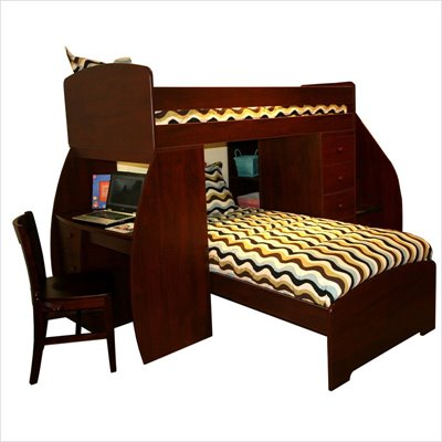 Berg Furniture Sierra Twin Over Twin Bunk Bed with Storage Stairs
