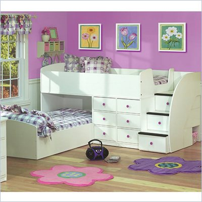 Berg Furniture Sierra L-Shaped Twin Over Twin Captains Bunk Bed