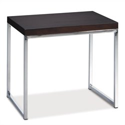 Avenue Six Wall Street End Table in Espresso