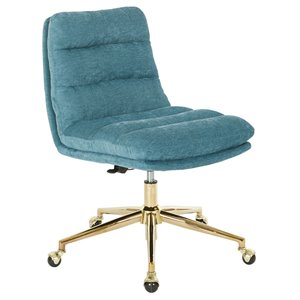 Avenue Six Legacy Swivel Armless Office Chair in Sky