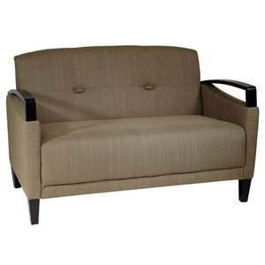 Avenue Six Main Street Loveseat in Woven Seaweed