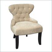 Avenue Six Curves Hourglass Chair in Vintage Linen