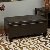 Avenue Six Detour Storage Bench in Espresso