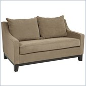 Avenue Six Regent Love Seat in Easy Brownstone
