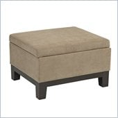 Avenue Six Regent Ottoman in Easy Brownstone
