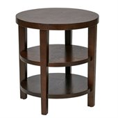 Avenue Six Merge 20 Square End Table in Espresso