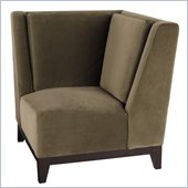 Avenue Six Merge Corner Chair in Easy Brownstone
