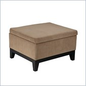 Avenue Six Merge Storage Ottoman in Easy Brownstone
