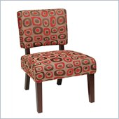 Avenue Six Jasmine Accent Chair in Twilight Red