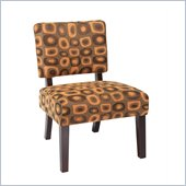 Avenue Six Jasmine Accent Chair in Twilight Rust