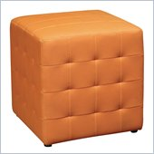 Avenue Six Detour 15 Mesh Fabric Cube in Orange