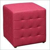 Avenue Six Detour 15 Mesh Fabric Cube in Pink