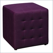 Avenue Six Detour 15 Mesh Fabric Cube in Purple