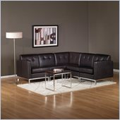 Avenue Six Wall Street 5 Piece Sectional in Espresso