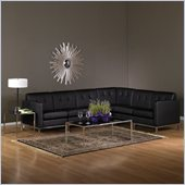 Avenue Six Wall Street 6 Piece Sectional in Espresso