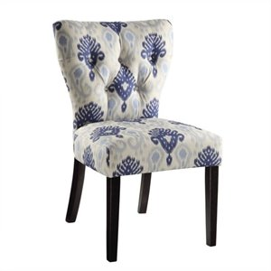 Avenue Six Andrew Dining Chair in Medallion Ikat Blue