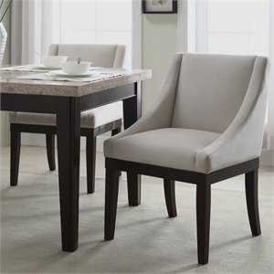 Avenue Six Monarch Dining Chair in Oyster Velvet