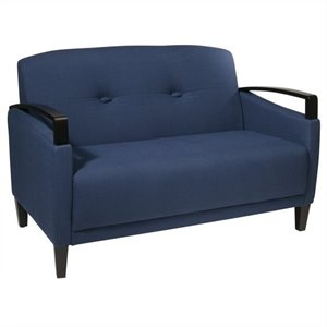Avenue Six Main Street Loveseat in Woven Indigo