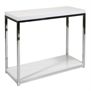 Avenue Six Wall Street Foyer Table in White