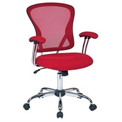 Avenue Six Juliana Mesh Back Office Chair in Red