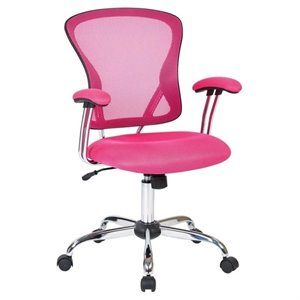 Avenue Six Juliana Mesh Back Office Chair in Pink