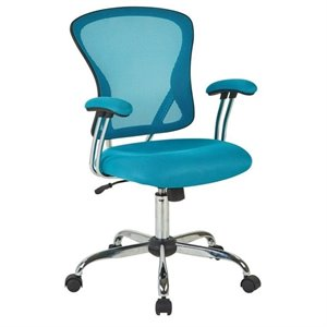 Avenue Six Juliana Mesh Back Office Chair in Blue