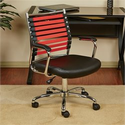 Avenue Six Randal Black Office Chair With Red Elastic Straps