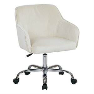 Avenue Six Bristol Velvet Fabric Office Chair in Oyster